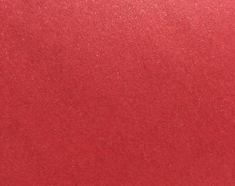 Card and matching Pearlescent envelope pomegranate Red