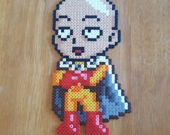 One Punch Man Pixel Bead Art