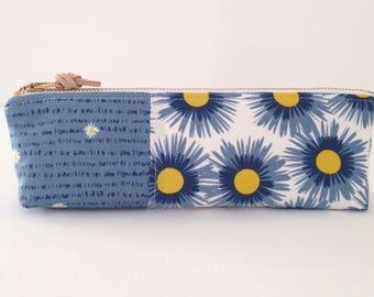 Pencil Pouch - Pencil Case - Zippered pouch - Accessory Bag - Make up Bag - Bag Organizer - Jewelry Bag - Toiletries Bag