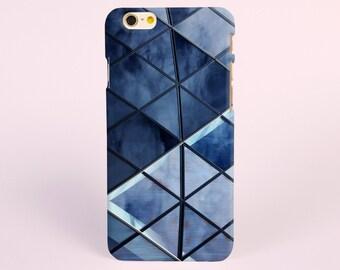 Geometric blue iPhone 8 case, iPhone X case, iPhone 7 plus case, iPhone 6s case tough case samsung galaxy s8 case samsung galaxy note 8 case