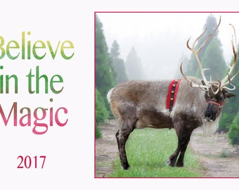 Add your photos to Reindeer Card {Instant Download}