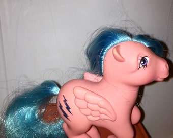 vintage 1982 Hasbro  made in hong kong conclave foot fire fly firefly my little pony pegasus pony RAD