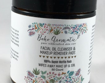Boho Aromatic Facial Oil Cleanser & Makeup Remover Pads