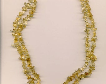 Golden Citrine Chip Necklace