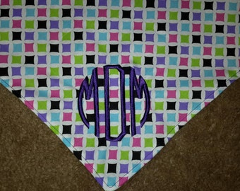 Monogrammed Dog Bandans Customized with Your Dog's Initials