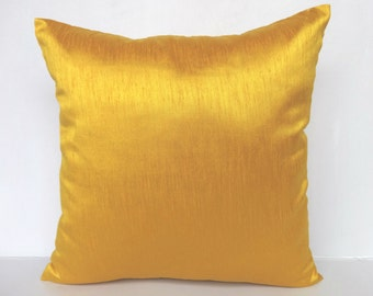 Golden Yellow cushion cover and throw pillow 18 inch price for set of 2 on 20% discount billow price is for 2
