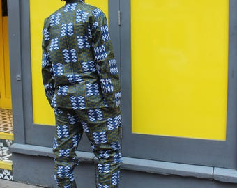 African Print Trousers Mens African Clothing Kente Pants African Matching Suit In Wax Print Trousers Ankara Trackies Festival Clothing