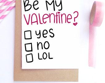 Funny Valentine Card, Funny Husband Card, Boyfriend Card, Best Friend Card