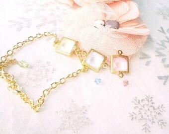 Bracelet gold bracelet, Crystal minimalist swarovski crystal, choose swarovski crystal bracelet