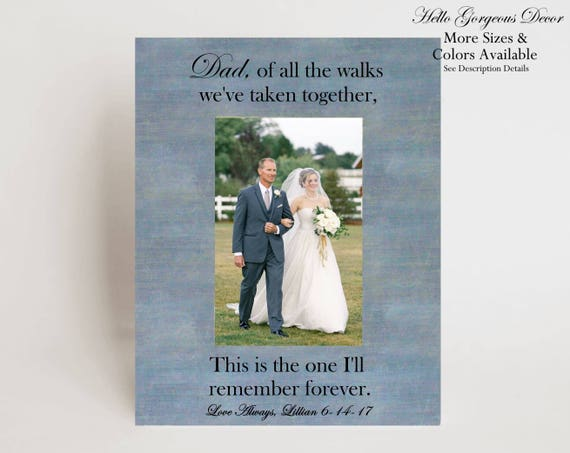 Father of Bride Gift Picture Frame Personalized Gift to Dad from ...