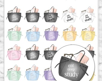 STUDY Icon Planner Stickers for your Erin Condren, Happy Planner, Kikki K, Filofax and more!