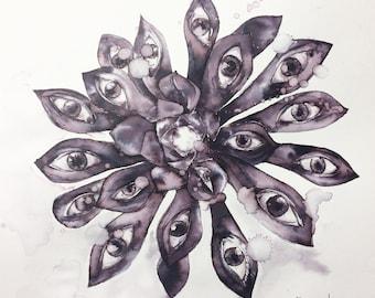 Botanical eye Beastie (print)