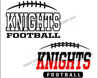 Knights Football Laces Download Files - SVG, DXF, EPS, Silhouette Studio, Vinyl Cut Files, Digital Cut Files -Use with Cricut and Silhouette