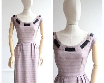 Vintage 1950's Wiggle Dress original 1950's revival  Mountbatten Pink Wiggle Dress casual fifties 50's original goodwood revival midcentury