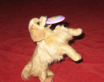 Needle Felted Dog /Custom Miniature Sculpture of your pet Cute / Poseable example Golden Retriever