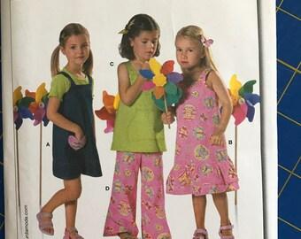 Burda Dress and Pants pattern sizes Girls 3-8 custom boutique