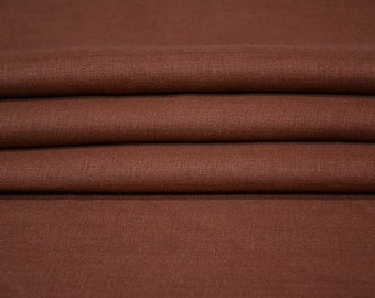 Choco Brown Linen Fabric By The Yard