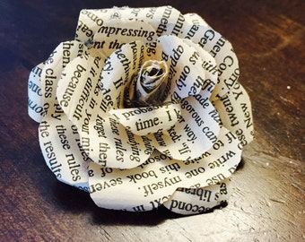 Beautiful Paper Roses {Set of 12}, Book Page Flowers, Paper flowers, Wedding Decor, Bridal, Shower, Bride, Flowers, Roses, Vintage, Rustic