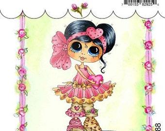 My-Besties Clear Rubber Stamp Big Eye Besties Big Head Dolls  You Hold My Heart MYB-0188  By Sherri Baldy