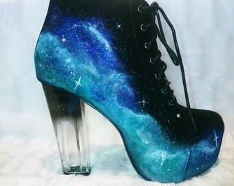 Galactic Ice Block Heels (Size 5)