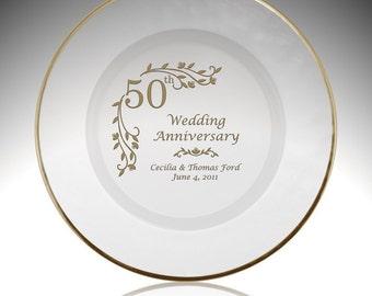 sc 1 st  Etsy & 50 anniversary plate | Etsy