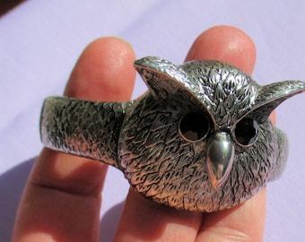 Vintage Owl Hinge Bracelet Repair Repurpose