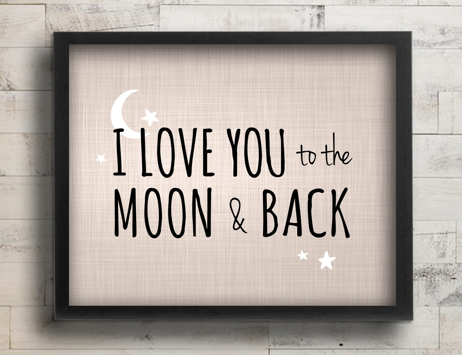 Quote I Love You To The Moon And Back I Love You To The Moon & Back Nursery Decor Celestial Stars