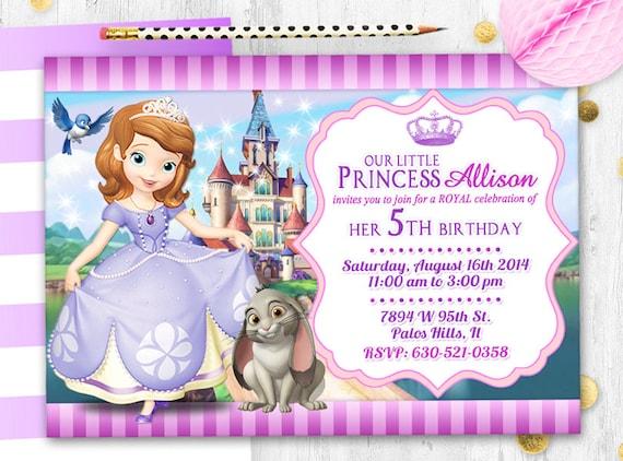 Princess Sofia Invitation Birthday Card
