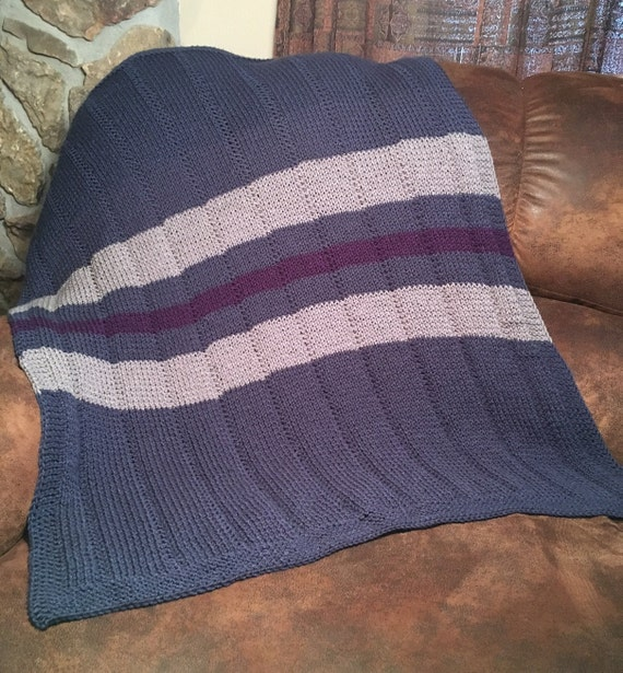Striped Baby Blanket and Tassels Hat - two loom knit patterns from ...