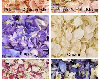 Dried Delphinium Petals in your Choise of Colours and Weight