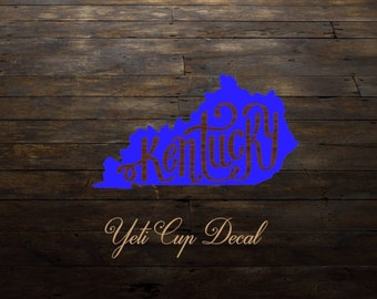 Yeti Cup Decal, Monogram Decal, Personalized Sticker,Name Decal,Preppy,Kentucky, RTIC Cup Sticker, Tumbler, Personalized Monogram Decal