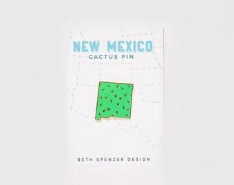 Cactus Pin / New Mexico Pin / Enamel Pin / New Mexico Art / New Mexico Gift / Albuquerque Gift / New Mexico / Santa Fe / Albuquerque / ABQ