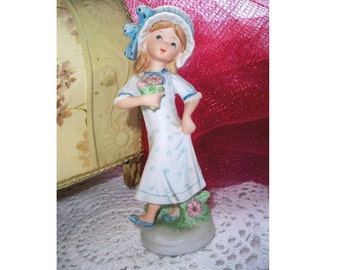 Vintage Lefton Girl Figurine - CLEARANCE SALE