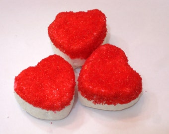 Heart shaped Marshmallows - 10 Gourmet homemade marshmallows - great for weddings, engagements, Valentine's Day