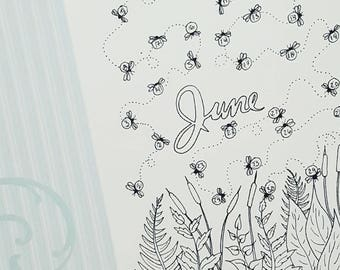 June Firefly Mood Tracker 2017