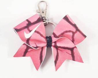 Pink Nike Pro Key Chain Bow