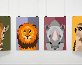 illustration - animals of africa