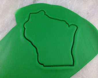 Wisconsin Cookie Cutter Outline - SHARP EDGES - FAST Shipping - Choose Your Own Size!