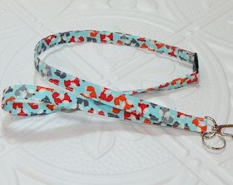 Fox Breakaway Safety Lanyard - Badge Holder - Key Lanyard - Teachers Gifts