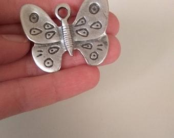 Set of 6pcs metal Butterfly pendants