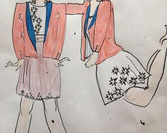 Original Fashion Design Concept Sketch