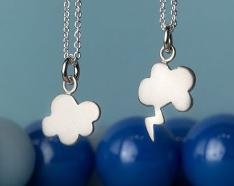 Tiny Cloud Necklace in sterling silver Kids Jewelry birthday gift cute charm necklace cloud pendant