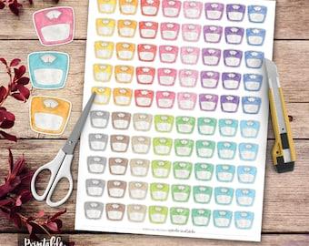 Weight Scale Printable Planner Stickers, Erin Condren Planner Stickers, Scrapbooking