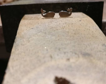 Silver Whale Earrings, whale gift, whale jewellery, ocean studs, whale earrings, orca earrings, nautical earrings, whale jewellery, sea stud