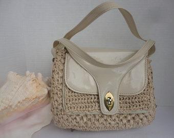 Gaymode Beige Raffia Handbag