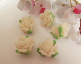 set of 10 plastic flower
