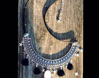 Linca white sparkle necklace