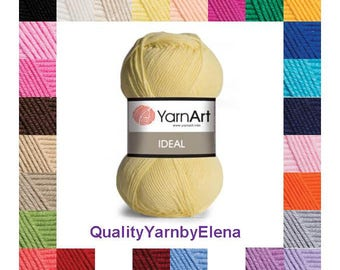 Ideal YarnArt 100% cotton yarn knitting crochet by Yarnart ideal 50g 170m (186  yards)