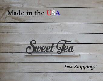 Sweet Tea Decor, Tea Art, Kitchen Decor, Cooking Decor, Restaurant Decor, Indoor/Outdoor, House Decor, Metal, Southern Decor, Tea Pot, W1067