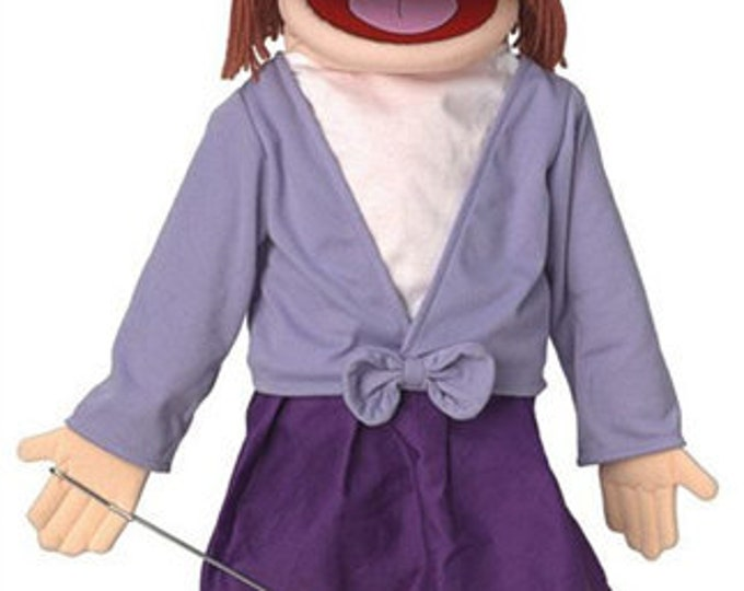 """New PUPPET! BIG 25"""" Professional Puppet - Mom, Teacher, Businesswoman - Full Body Muppet Mouth Puppet with Arm Rod"""